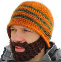 Wholesale Handmade Knit Beard Beanie Mustache Mask Face Warmer Ski Winter Hat Cap Gift ABDU