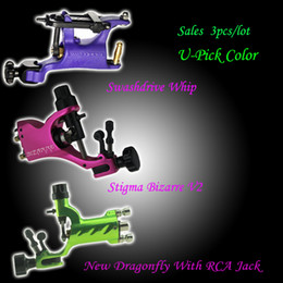 Wholesale Mixed Order Stigma Bizarre V2 Dragonfly Swashdrive Whip Rotary Tattoo Machine Gun U Pick Color
