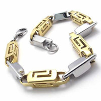 Wholesale Fashion Jewelry Stainless Titanium Steel Gold Slippu Square Hollow Cylinder Links Chai