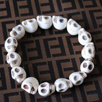 Fashion lots of turquoise jewelry - Promotion Turquoise Bracelet Fashion Jewelry White Colors Of Skull Mix Size x12mm