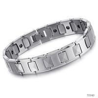 Fashion tungsten bracelet - Fashion tungsten bracelet Heath jewelry fashion tungsten magnetic health care germanium male bracele