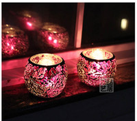 Wholesale Bar Candle Holders Glass Candle Holder colors Home Decoration Wedding Decoration Fr