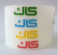 Wholesale JLS glow in dark Silicone wristband bracelets Silica gel hand ring Wrist Band fre