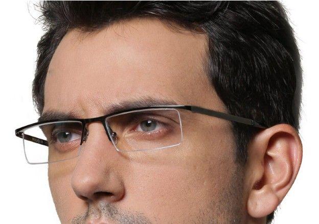 Current Glasses Frame Styles : New Fashion Eyeglass Frame Optical Eye Glasses Metal Half ...