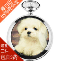 Wholesale Large dog cat horse polar bear child pocket watch necklace table ceramic pocket watch pocket watch lctcause