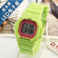 Analog Rubber  AUDI ots sports waterproof sheet child digital watch led jelly table green
