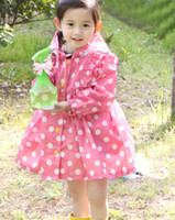 3T-4T 90-100-110-120-130 With Hood Children Wear Kids Hooded Poncho Fashion Cape Poncho Girl Clothes Child Cute Polka Dot Poncho Coat