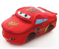 Wholesale Lightning Cars McQueen School bag Children backpacks kids Boys Girls baby bags designer Cute W1279