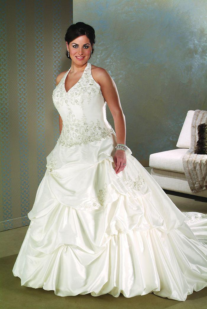 2013 new arrival ball gown plus size wedding dresses for Halter ball gown wedding dresses