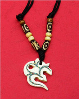 Wholesale Individual men and women present Tibet yak bone amulets necklace pure manual national jewelry