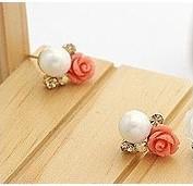 Wholesale 2013 Fashion Earrings Diamond Rose Pearl Earrings