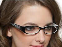 Wholesale fashion glass frames womens lovely eye frame plastic women glasses eyeglass black color drop shipp