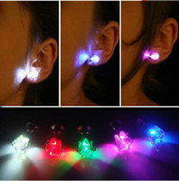 Wholesale Flash earrings Hairpins Strobe LED ear ring Lights Strobe party items Magnets Fashion