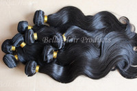 Wholesale Mix length quot quot Peruvian Virgin Remy Hair Weft Natural Color Weave Body Wave g AAAA