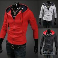 Men Cotton Street Fashion New Arrival Brand casual fashion jacket hoody coat men's Outerwear Men's Red Jacket Overcoat