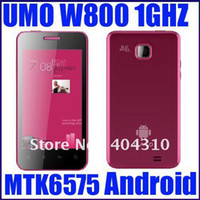 Wholesale Original brand new UMO W800 Android lady phone super thin red in stock inch multi touch GP