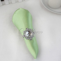 Wholesale 10 Apple Green quot Square Satin Dinner Napkins or Handkerchiefs Wedding Party Colors Hot Sale Favor