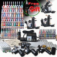 Wholesale USA Dispatch Professional complete cheap tattoo kits guns machines ink sets equipment power supply MGT27