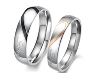 Bohemian ring size 4 - Factory direct sale Ring Stainless steel Valentine s Day gift new jewelry love titanium steel couple ring on the rings GJ284