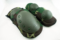 Wholesale Paintball Airsoft Knee and Elbow Pads Woodland PD GC free ship