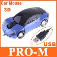 Wholesale 5pcs Blue Car Shape USB D Optical Mouse for PC Laptop