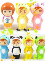 Wholesale PC Mini animal doll nice Portable air fan Battery Cartoon Pattern Summer Electric Co