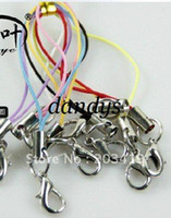 cell phone straps - retail wrist hand cell phone mobile straps keychain Charm Cords DIY Lariat Lanyard Lobster
