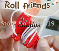 Wholesale retail Cute red cat wrap cable wire tidy earphone winder Organizer holder for headphone MP