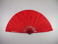 chinese fans - Chinese Dance Fans Ladies Hand Fans Craft Fans Handmade length inches Solid Color Traditional Folding Fans new arrival Hot sale