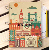 Wholesale London sights vintage Antique DIY PHOTO ALBUM Scrapbook corner stickers Paper Crafts baby