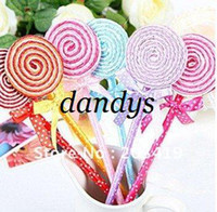 Wholesale retail Cute Lollipop Pen Ball point pen Office supplies Stationery changeable mm blue c
