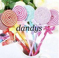 Wholesale retail Cute Lollipop Pen Ball point pen Office supplies Stationery changeable mm blue c