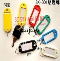 Wholesale retail Plastic Key ID Labels Tag Cards Ring Name key ring key tag labels with name cards I