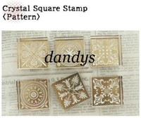Wholesale vintage Antique crystal square Stamps seal carved gift craft toy decoration pattern Fashio