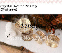 Wholesale vintage Antique crystal round decorative pattern Stamps seal carved gift craft toy Fashion