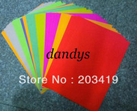 Wholesale color A4 self adhesive sticker paper for scrapbook craft Punch stamping up die DIY diary g