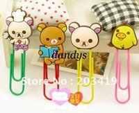 Wholesale wolesale Bookmarks card paper book line marker clip message PVC metal gift craft bear chick fancy lo