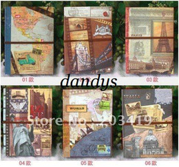 Wholesale Europe landscape vintage Antique DIY PHOTO ALBUM frame Scrapbook Paper Crafts baby wedding