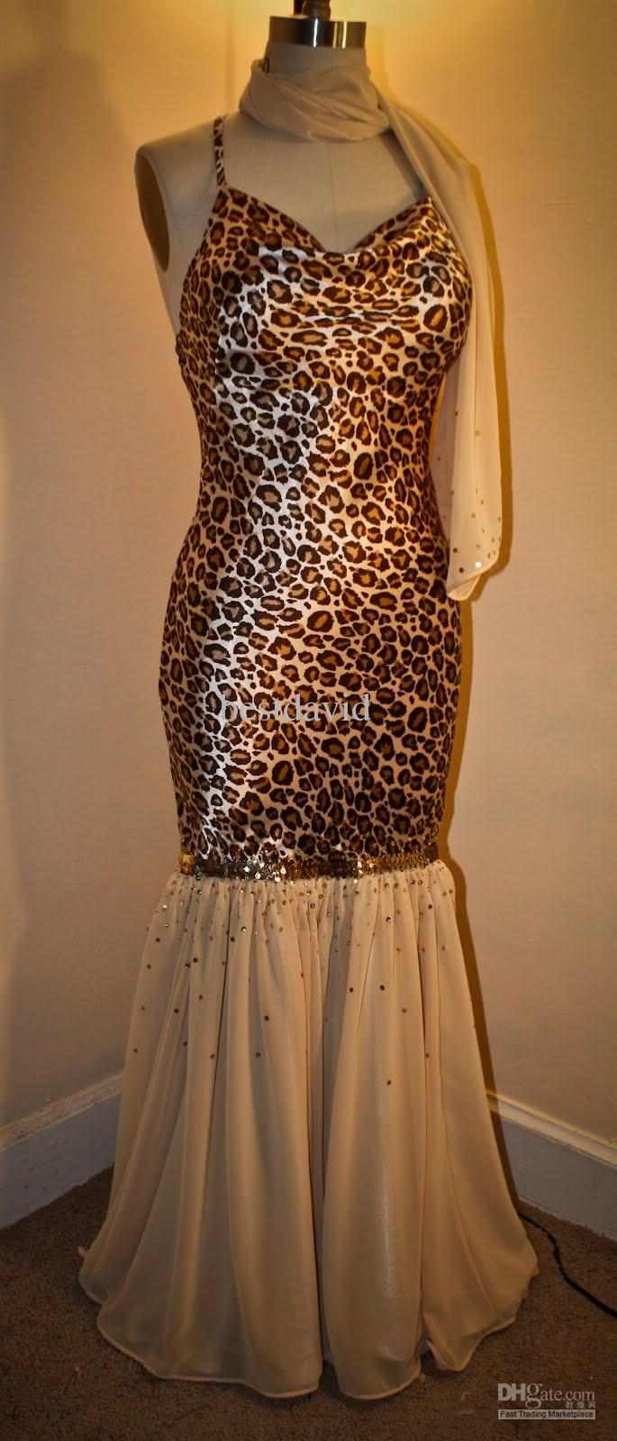 Cheap Plus Size Animal Print Dresses Holiday Dresses