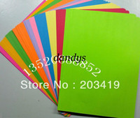 Wholesale multi color A4 double face paper for scrapbook craft Punch stamping up die DIY diary gift