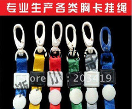 Wholesale retail beautiful Neck Strap lanyard ID Card Cell Phone strap Badge Pass Card Holder cm pl