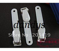 Wholesale retail multi color plastic Spring Clip On Name Tag ID Badge Photo Metal Strap Card Holder