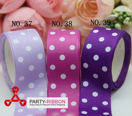 Wholesale 22MM Polka Dot Printed Grosgrain Ribbon Yards per colour colours you can choose NO To NO