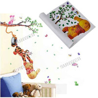 Wholesale Hot Selling Winnie Pooh Friends Wall Sticker Cartoon Nursery Daycare Baby Room Decor