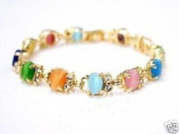 Wholesale new arrive Charming Multicolor Opal Link Bracelet chains fashion jewelry