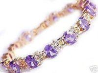 Wholesale new arrive Christmas Gorgeous amethyst bangle bracelet chains fashion jewelry
