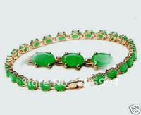 Wholesale new arrive Wonderful Green Natural Emerald chains Bracelet quot fashion jewelry