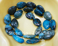 Wholesale new arrive teardrop shaped x18mm larimar blue crazy lace agate agate loose beads quot pc fashion jewelry