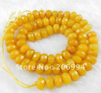 Wholesale new arrive x8mm Natural Faceted Topaz Abacus Gems Loose Beads quot pc fashion jewelry