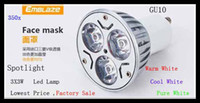 Wholesale 500pcsLed Lamp Spotlight GU10 X3W W V V Energy saving High Power Led Light Lighting Downlight